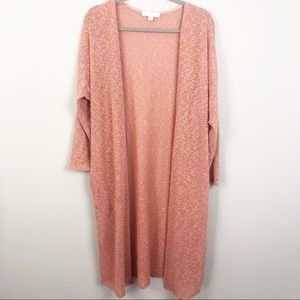 Painted Threads | Peach Duster Open Cardigan